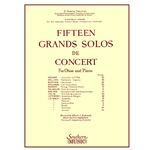 15 Grands Solos De Concert for Oboe (with piano accompaniment)