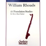 21 Foundation Studies for Alto or Bass Clarinet
