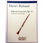 RABAUD - Solo de Concours for Clarinet with Piano Accompaniment