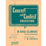 Piano Accompaniment for Concert and Contest  Bass Clarinet Book
