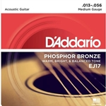 D'Addario EJ17 Phosphor Bronze Acoustic Guitar Strings, Medium Gauge