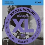D'Addario EXL115 Nickel Wound Electric Guitar Strings, Medium/Blues-Jazz Rock