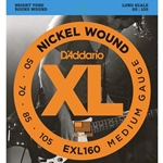 D'Addario EXL160 Nickel Wound 4-string Bass Guitar Strings, Medium, Long Scale