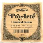 D'Addario J4404 Pro-Arte Nylon Classical Guitar Single String, Extra-Hard Tension, 4th String - D