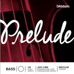 D'Addario Prelude Bass Single A String, 1/8 Scale, Medium Tension