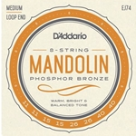D'Addario EJ74 Phosphor Bronze Mandolin Strings, Medium