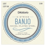 D'Addario EJ60 Nickel-Plated 5-String Banjo Strings (Light)
