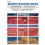 Belwin Master Solos for Saxophone, Volume 1 Intermediate Solo Book