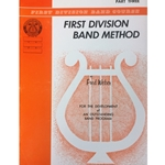 First Division Band Method - Baritone Treble Clef, Part 3