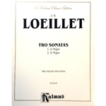 LOEILLET - Two Sonatas for Two Violins and Piano