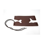 Trumpet Valve Guard, Bach soft brown leather with laces