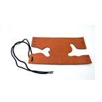 Trumpet Valve Guard, Bach simulated brown leather with laces