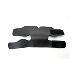 Trumpet Valve Guard, black leather with velcro
