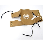Trumpet/Cornet Valve Guard, tan leather with laces