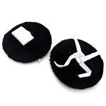Black Soft Pile Cymbal Holders (pair)