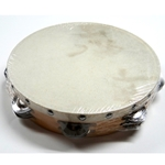 "Ludwig 10"" Double Row Tambourine w/ Skin Head"