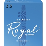 Rico Royal Bb Clarinet Reeds #3.5 (10pk)