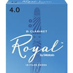 Rico Royal Bb Clarinet Reeds #4 (10pk)