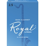 Rico Royal Bass Clarinet Reeds #2.5