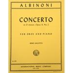 ALBINONI - Concerto in D minor, Opus 9, No. 2 for Oboe and Piano