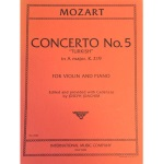 "MOZART - Concerto No. 5 ""Turkish"" in A Major, K.219 for Violin & Piano"