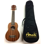Amahi UK210S Soprano Ukulele (with bag)