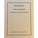 FRACKENPOHL - Divertimento for Euphonium or Trombone & Piano