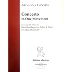 LEBEDEV - Concerto for Bass Trombone or Tuba & Piano