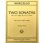 MARCELLO - Two Sonatas: #1 in F Major and #4 in G minor for Cello and Piano