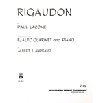 LACOME - Rigaudon for Alto Clarinet & Piano
