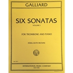 GALLIARD - Six Sonatas for Trombone and Piano, Volume 1 (Sonatas 1-3)