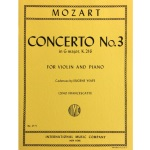 MOZART - Concerto No. 3 in G Major, K.216, for Violin & Piano