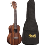 Amahi UK220S Mahogany Soprano Ukulele (with bag)