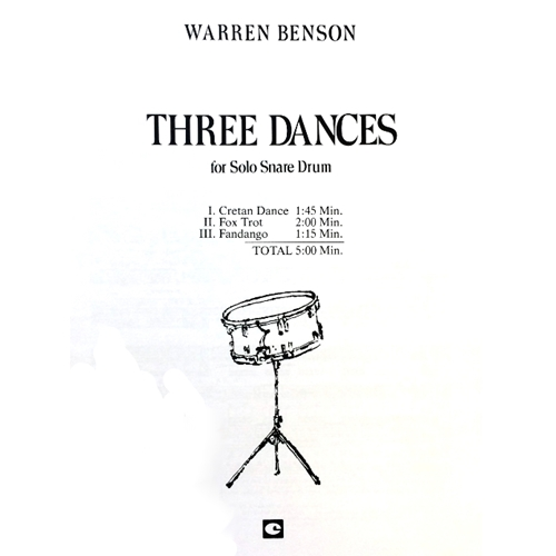 BENSON - Three Dances for Solo Snare Drum