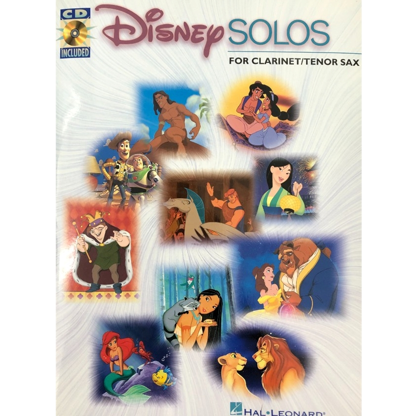 Disney Solos for Clarinet or Tenor Saxophone