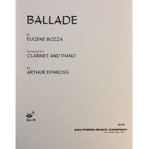 BOZZA - Ballade for Clarinet & Piano