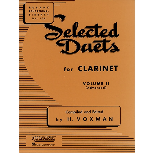 Selected Duets for Clarinet, Volume 2 (Advanced)