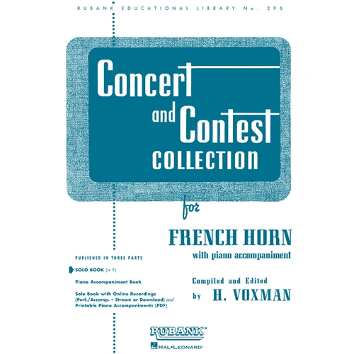 Concert and Contest Collection for French Horn (Solo Book)
