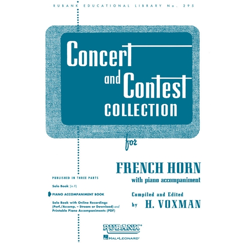 Piano Accompaniment for Concert and Contest French Horn Book