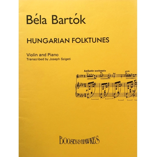 BARTOK - Hungarian Folktunes for Violin & Piano