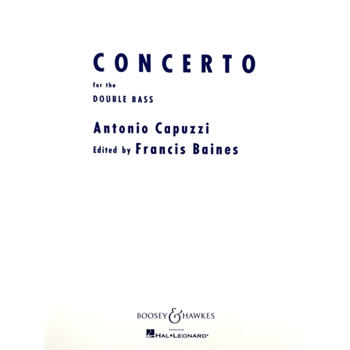 CAPUZZI - Concerto in F Major for the Double Bass with piano accompaniment
