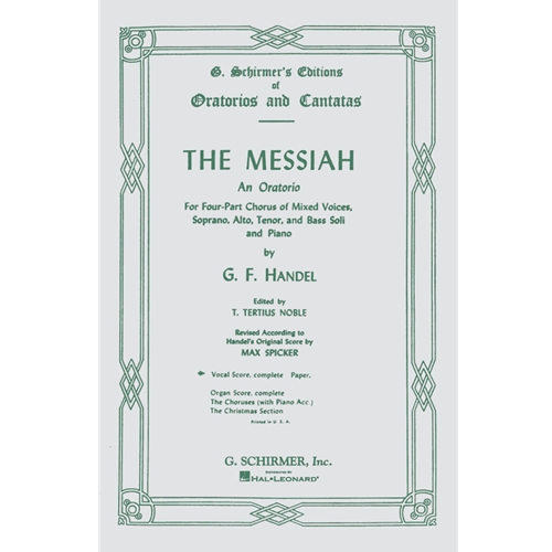 HANDEL - Messiah Oratorio (SATB)