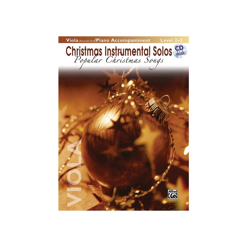 Christmas Instrumental Solos: Popular Christmas Songs for Viola (w/ Piano)