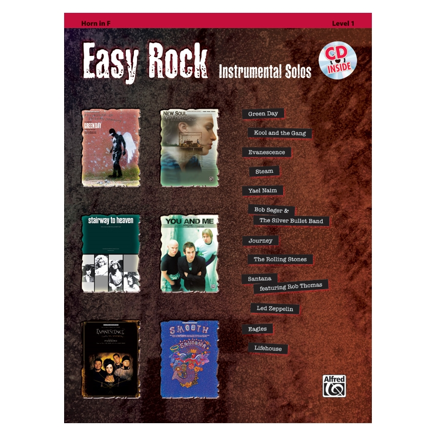 Easy Rock Instrumental Solos for French Horn