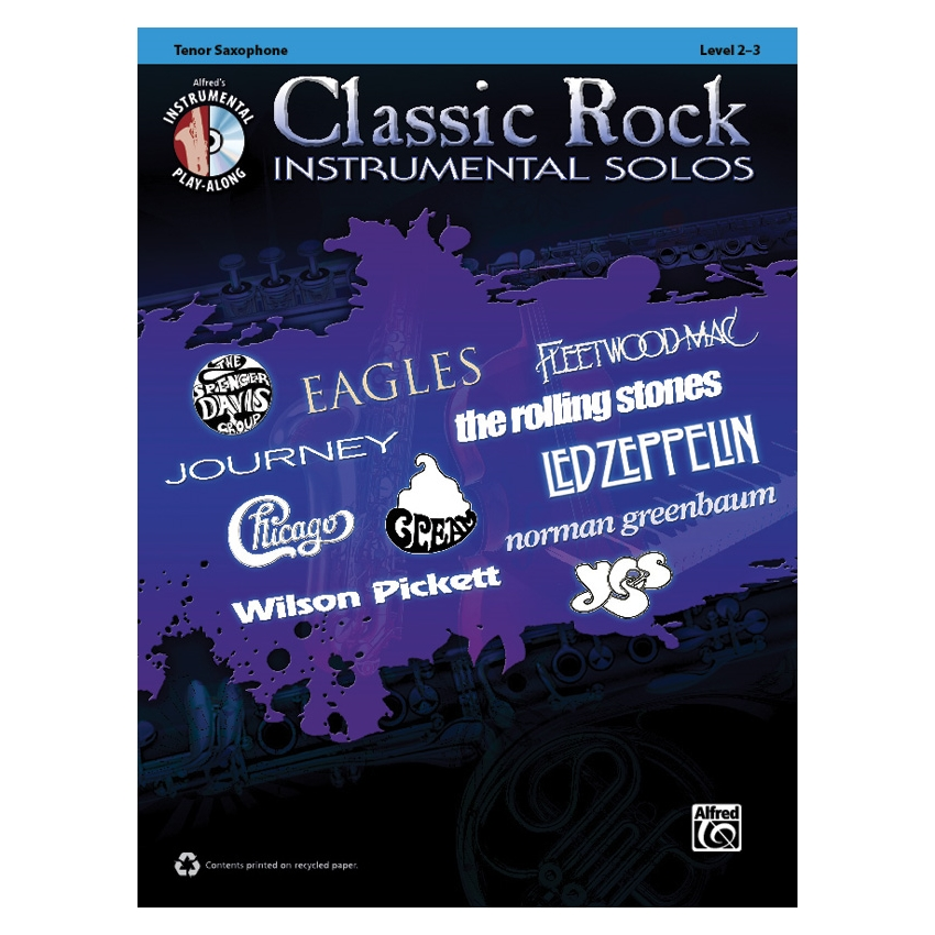 Classic Rock Instrumental Solos for Tenor Sax