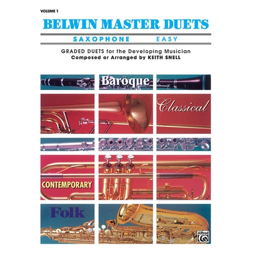 Belwin Master Duets for Saxophone, Easy Volume 1