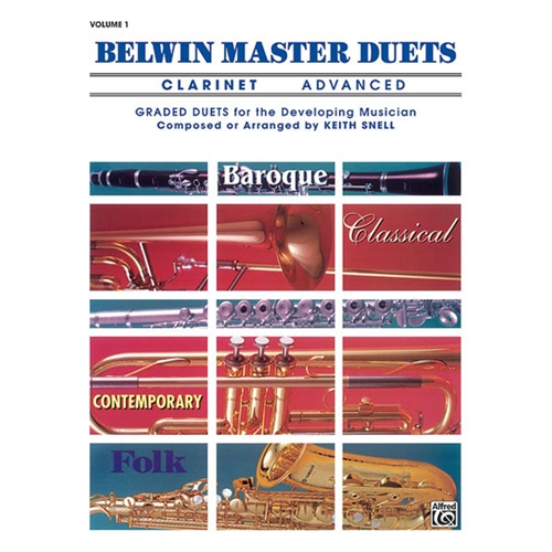 Belwin Master Duets for Clarinet, Advanced Volume 1