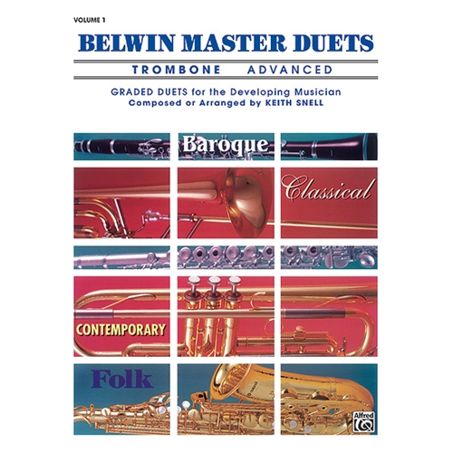 Belwin Master Duets for Trombone, Advanced Volume 1