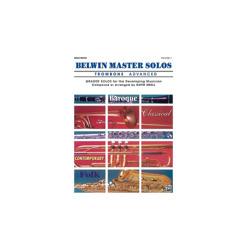 Belwin Master Solos for Trombone, Volume 1 Advanced Solo Book