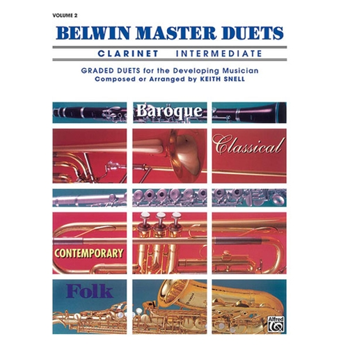 Belwin Master Duets for Clarinet, Intermediate Volume 2